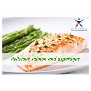 delicious salmon and asparagus