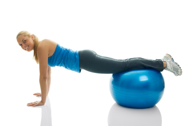 push up_fitness ball